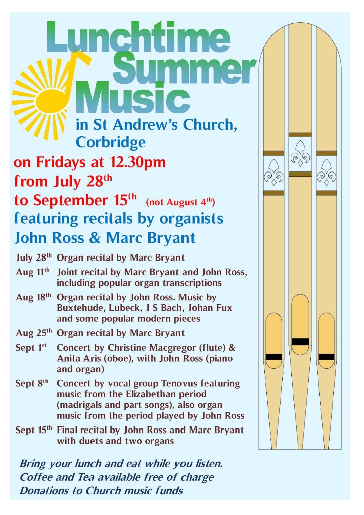 Organ Recitals Summer 2017 A4v1