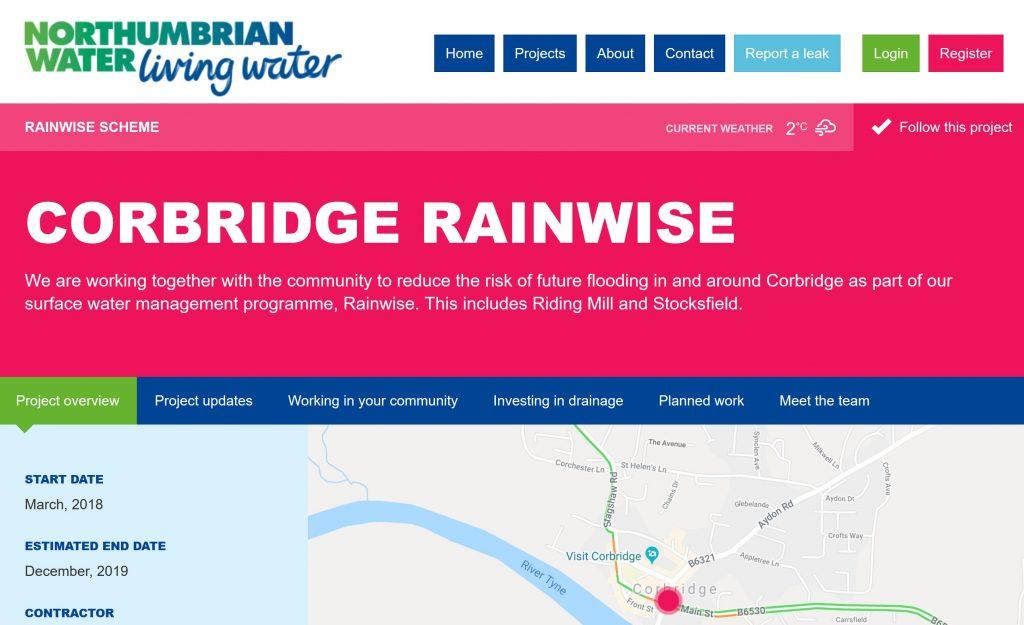 Corbridge Crofts Flood Work